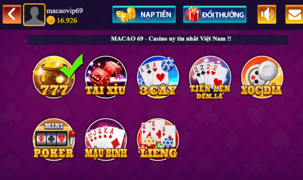 Choi game xeng slot 777